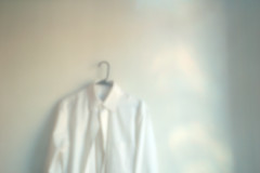 Shirthole (eqqman) Tags: white shirt pinhole hanging 2008 ordinariness