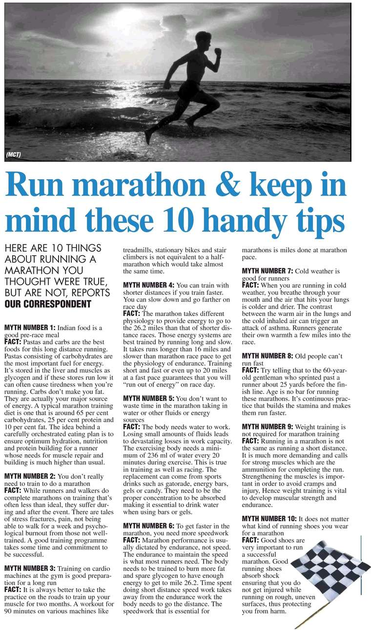 Marathon Running Tips for the beginners