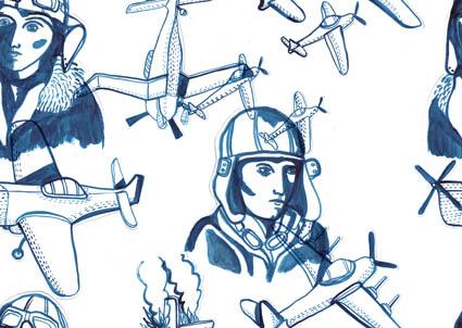 airplane pattern base
