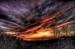 Sunset on Yesterday (kuyman) Tags: sunset sky sun clouds contrast photoshop saturated vibrant awesome hdr lightroom photomatix kuyler platinumphoto d40x kuyman