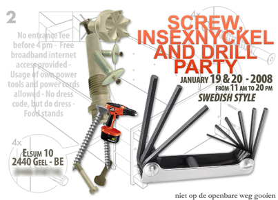 Screw, insexnyckel and drill party