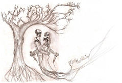 A Little Piece of Heaven (www.LizzieVPhotography.com) Tags: tree art death groom bride sketch lyrics killing drawing eerie romance doodle morbid subliminal skeletons corpse avengedsevenfold