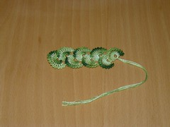 Green fan bookmark