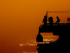 in Istanbul (E.L.A) Tags: travel sunset sea people holiday reflection nature water silhouette horizontal misty fog contrast turkey outdoors photography togetherness fishing fisherman europe trkiye foggy citylife tranquility places istanbul explore transportation mostinteresting twopeople trawler turkish gettyimages marmara bosphorous fishingrod colorimage mycountry fishingindustry nauticalvessel incidentalpeople saariysqualitypictures