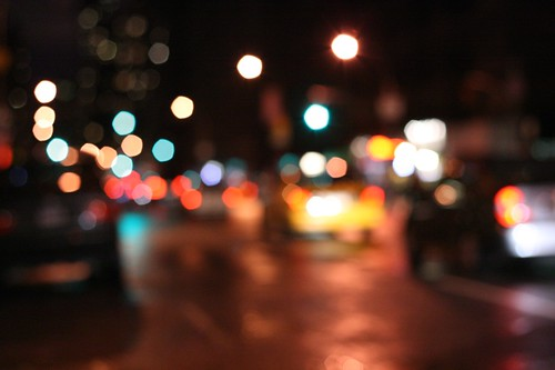 city streets bokeh (by mintyfreshflavor)