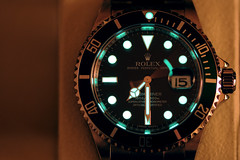 7:30PM (Toni_V) Tags: longexposure glow watch rolex submariner d300 16610 105mmf28gvrmicro toniv toniv 16610lv