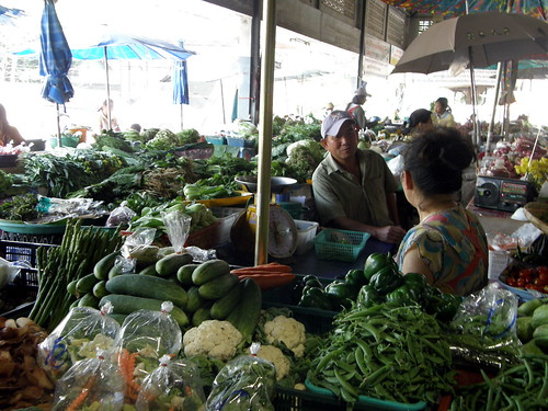 Vegetables for sale in Chiang Mai market