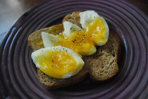 Soft-boiled egg on toast