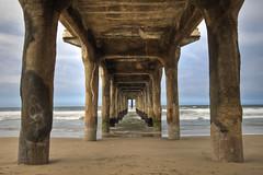manhattan (richietown) Tags: ocean california sea beach topf25 topv111 canon la pier vanishingpoint losangeles sand topv555 topv333 pacific horizon manhattanbeach hdr 30d cs3 sigma1020mm photomatix 3exp mywinners abigfave richietown