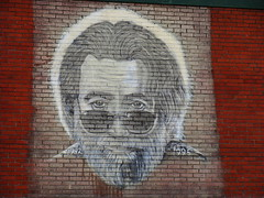 Jerry Garcia Face Murial @ Terrapin Station (jade19721) Tags: tag3 taggedout painting mural tag2 tag1 urbanart jerrygarcia murial thegratefuldead terrapinstation jerrygarciasface 1108sh4 paintingonbricks muralonbricks