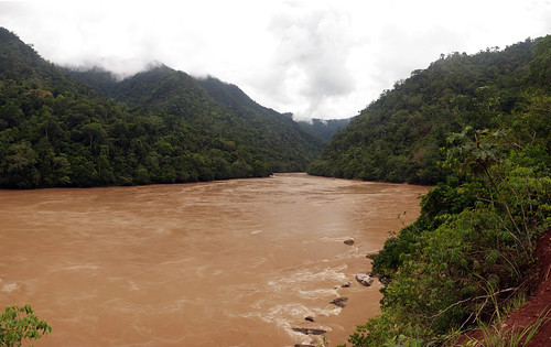 Ucayali River, Peru looking east at Pongo de Aguirre - a ... Ucayali River