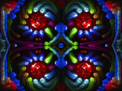 Staring... (FDU4) Tags: light red lightpainting abstract black color beautiful yellow blackbackground painting mirror colorful kaleidoscope mandala symmetry mirrored symmetric detailed