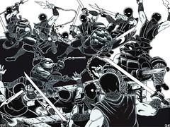 """Teenage Mutant Ninja Turtles"" #1 V.1 Remix Fan Comic / Pg.28,29 art by PL212 (( 2011 ))"