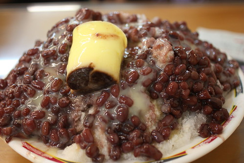 Red Bean Shaved Ice with Pudding