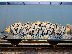 PLEASE!! (TRUE 2 DEATH) Tags: railroad streetart train graffiti please cm railcar tuk hopper ya railfan freight yetagain wrt aysek benching coveredhopper wrtk