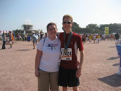 Jessica and Mike at the finish area