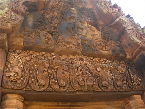 Bantey Srei Pediment