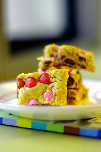 M&M cookies bar