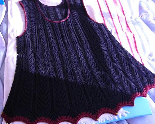 Shetland Shawl Turned Vest: Blocking