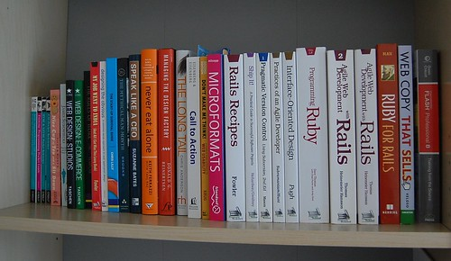 Bookshelf by Andrew*, on Flickr