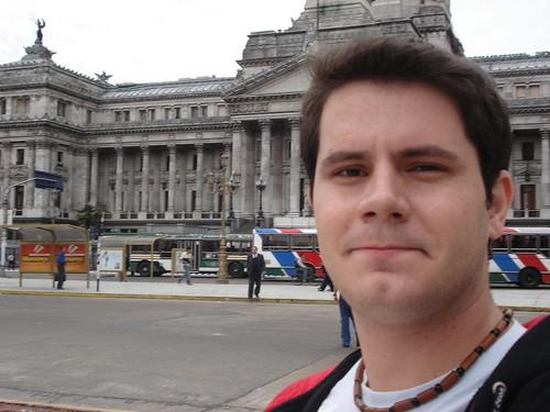 Eu na frente do congresso