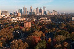 Fall Skyline (airnos) Tags: atlanta skyline fallcolor skyscrapers 2007 chroniclesset