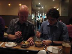 2007_09_24-29-digra-japan 514 (mimmi) Tags: food cooking dinner tokyo okonomiyaki jesperjuul digra digra2007
