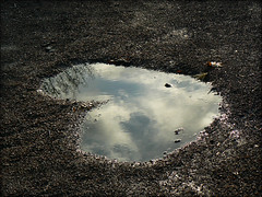 Puddle (digikuva) Tags: leica reflection water finland puddle lumix helsinki sand europe heart heiluht heartspotting fz7 p1260072