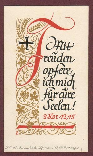 Brieger: 2. Kor. 12,15