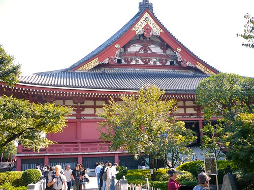 Part of the Sensoji temple