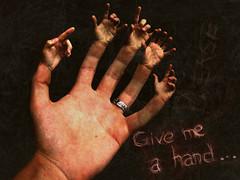 Give me a hand... (tiagogmc) Tags: photoshop hands hand finger fingers manipulation ps give dedos mãos mão dedo manipulação