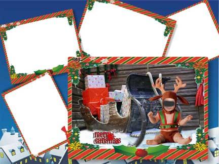 Caritas navideñas con fotomontaje para bebé: