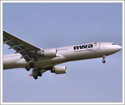 Northwest Airlines plane by whatsthediffblog, on Flickr