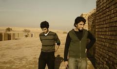 Kaweh & Reza (SHOKI SHOOT . com) Tags: travel male men travelling art sepia persian iran persia iranian brotherhood abadan farsi choghalzanbil