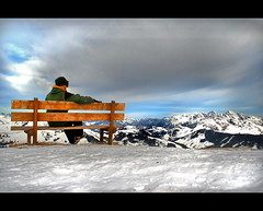 Outside Looking In (labareda photo) Tags: sky snow mountains me alpes austria europe relaxing thinking snowboard hinterglemm platinumheartaward