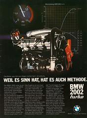 Reklame BMW 2002 Turbo (1973) (jens.lilienthal) Tags: 2002 classic vintage advertising reclame ad advertisement turbo 02 advert bmw werbung publicité 1973 reklame anzeige réclame werbeanzeige rallyeracing amzeige zeitungsreklame