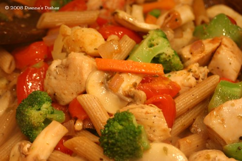 Whole Wheat Chicken and Vegetable Pasta