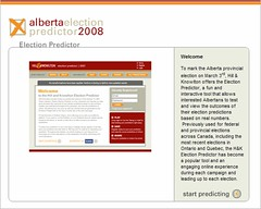 2008 Alberta Election Predictor