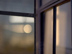window seat (Ansel Olson) Tags: pink blue light abstract black colour reflection window glass metal composition amber perception diptych mood glow dof bokeh violet atmosphere surface dirt ambient translucent transparent pane asymmetry stg crud colorpalette experiential
