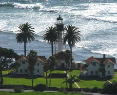 New Point Loma Lighthouse (Sandra Leidholdt) Tags: california light lighthouse monument point faro bay coast harbor san diego explore coastal national farol beacon navigation loma fyr pointloma cabrillo fyrtrn explored navigationalaid sandraleidholdt leidholdt sandyleidholdt