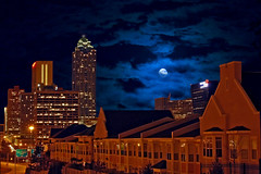 Midnight Blue (RMac_Photography) Tags: longexposure nightphotography blue atlanta sky moon building wow d50 georgia geotagged nikon cityscape nightshot rmac totalphotoshop