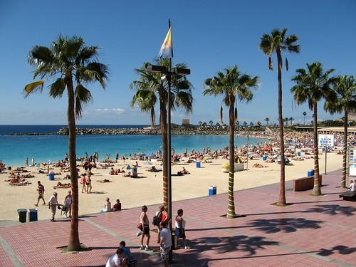 Una playa de Canarias