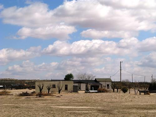 Desolate houses near Fabens, Texas, USA