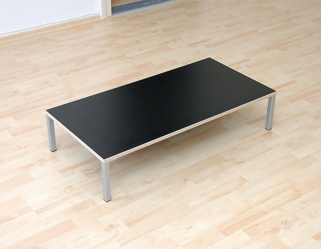 Lounge-Tisch schwarz Multiplex / Lounge table black plywood