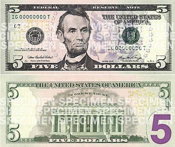 New American $5 Bill