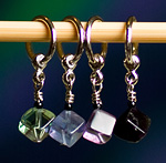 Handmade Stitch Markers - Flourite Cubes