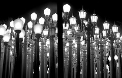 Urban Lights Diptych (Grendl) Tags: chris film pen book photo diptych published gothic olympus exhibition selected f epson halfframe lacma burden perfection chosen bw400cn v500 bcam blackwhitephotos artlegacy artinbw penography