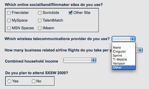 SXSW Feedback form