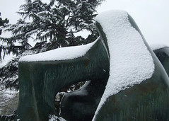 13 Large Two Forms, 19667 (chericbaker) Tags: sculpture kewgardens snow kew moore henrymoore mooreatkew