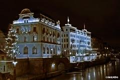 Basel, Switzerland (limando) Tags: blue light night hotel basel repost limando